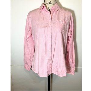 Wrangler Button Down Striped Shimmer Shirt